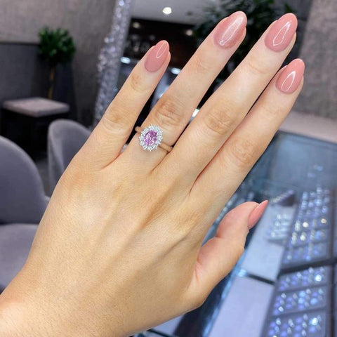 PANTHER Pink Sapphire Engagement Ring