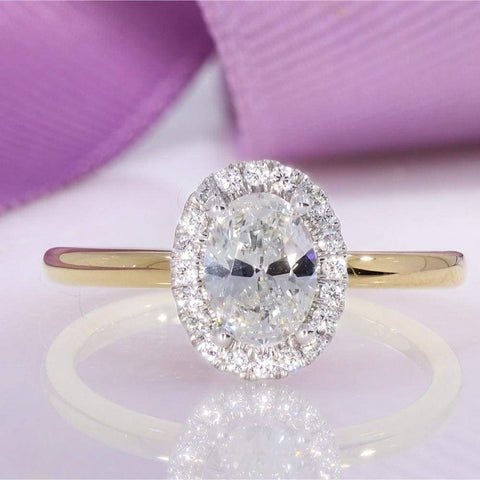 RIVA Oval Engagement Ring