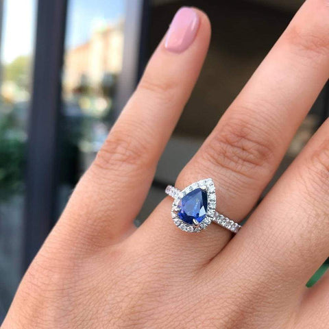 SASKIA Sapphire Engagement Ring by Gear Jewellers