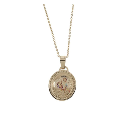 Oval Shaped St. Christopher Medal in 9ct Gold