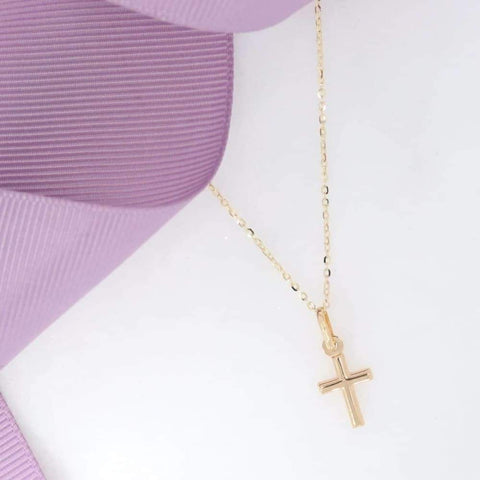 Tiny Cross & Chain in 9ct Gold