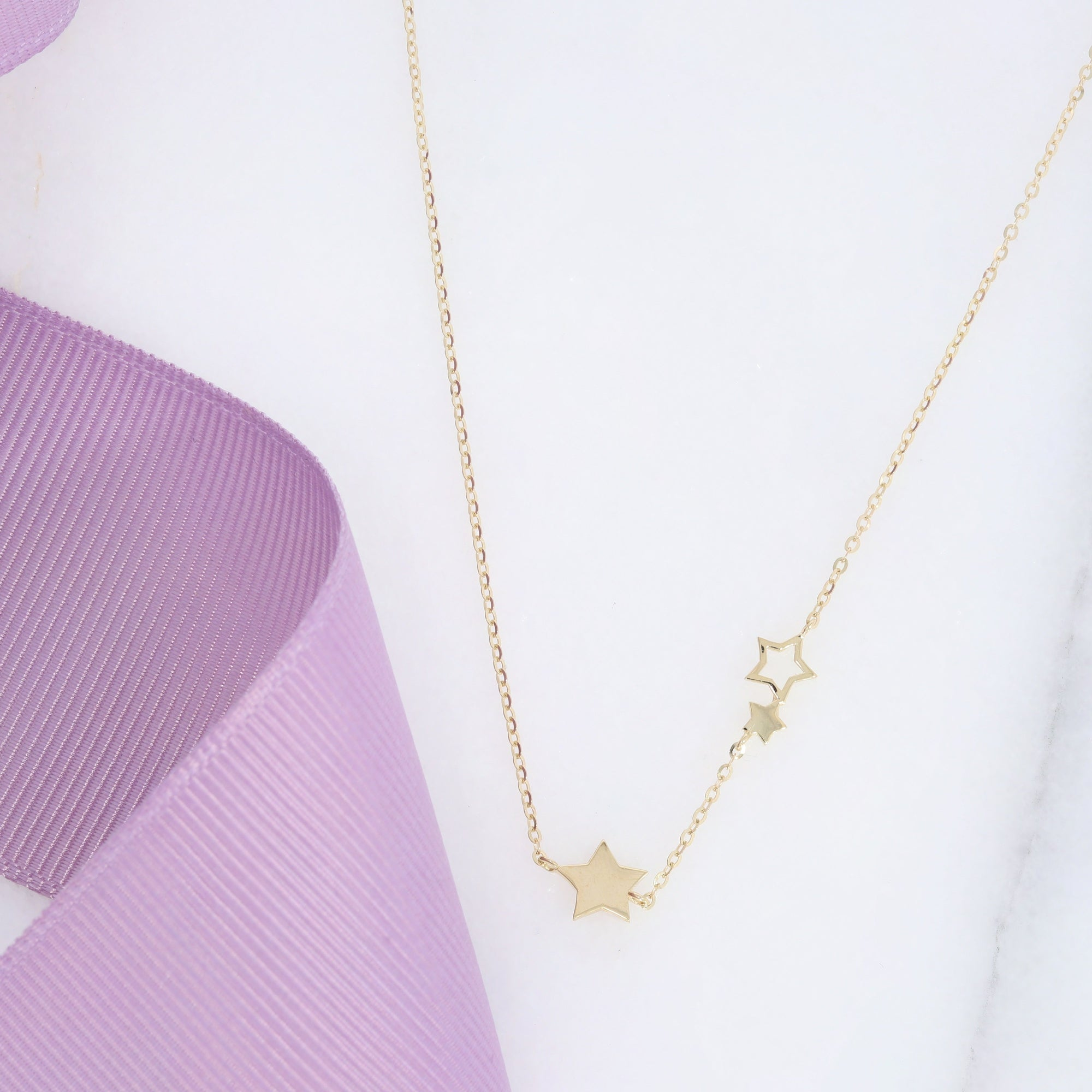 Stars Necklace | 9ct Gold