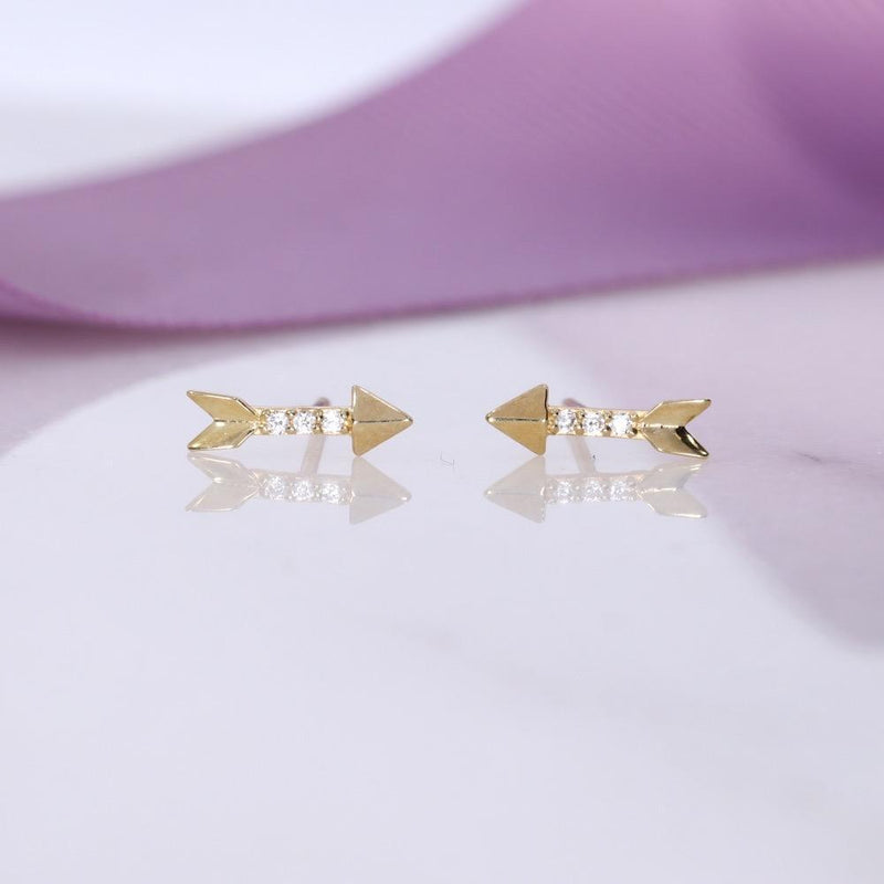 Cupid's Arrow Earrings | 9ct Gold