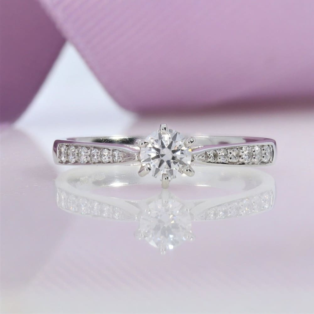 Platinum Solitaire Diamond Engagement Ring Gear Jewellers Dublin