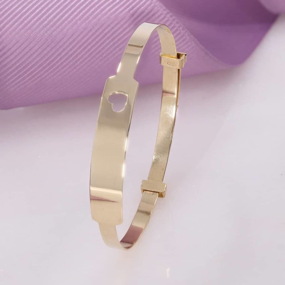 gold baby bangle christening