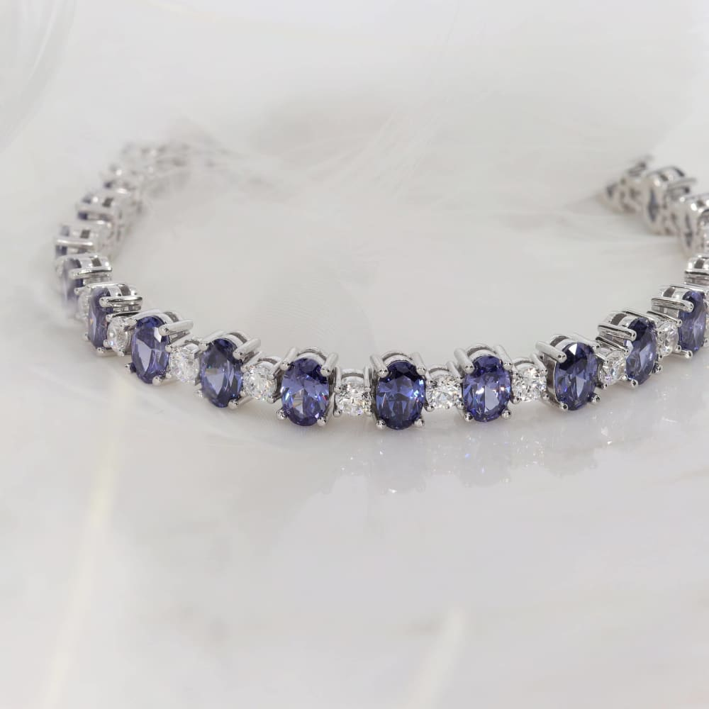 My Something Blue Cubic Zirconia Bracelet | Sterling Silver