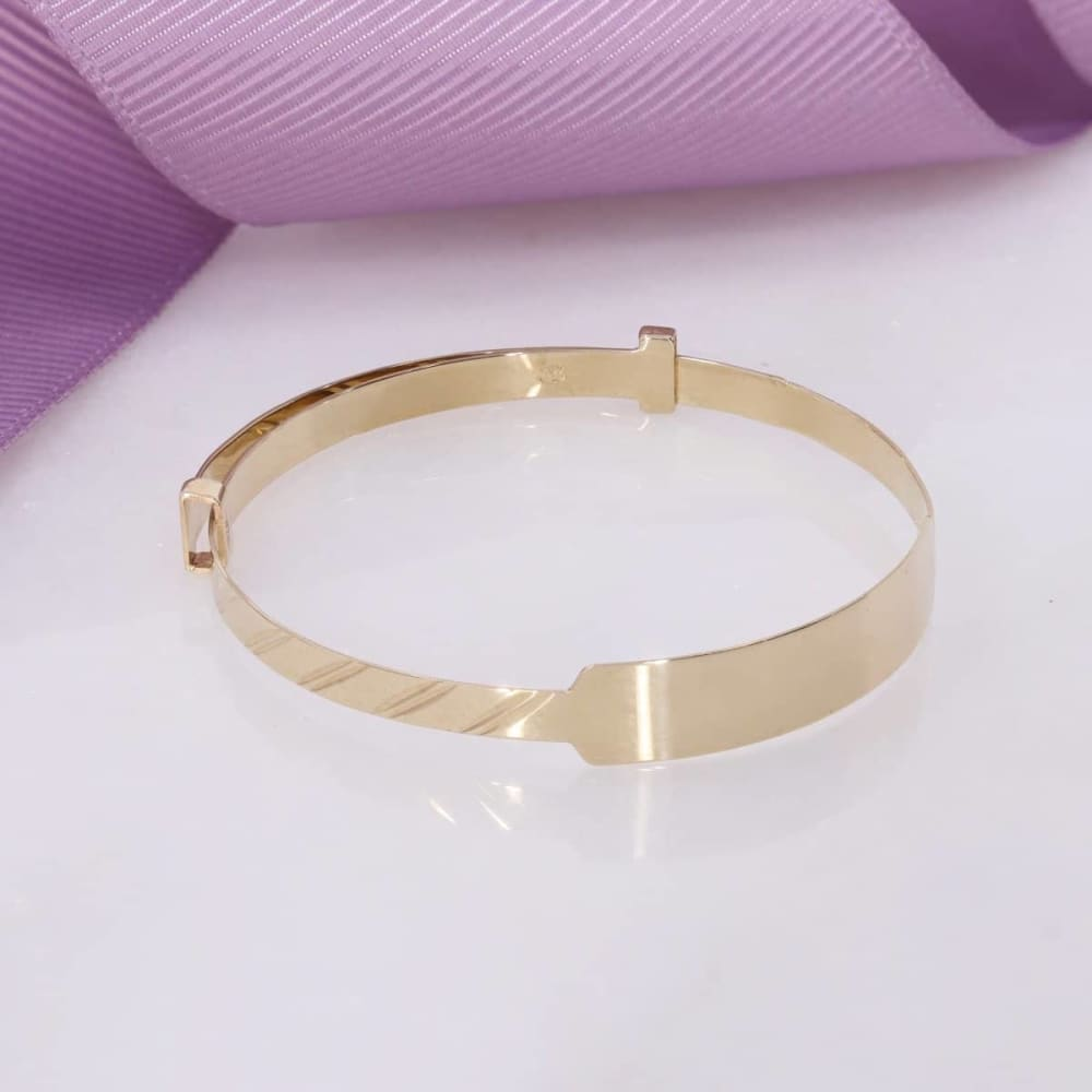 gold baby bangle christening bracelet