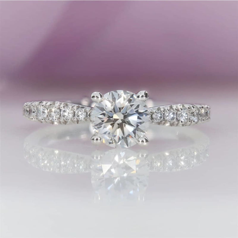 Saturn Diamond engagement ring solitaire