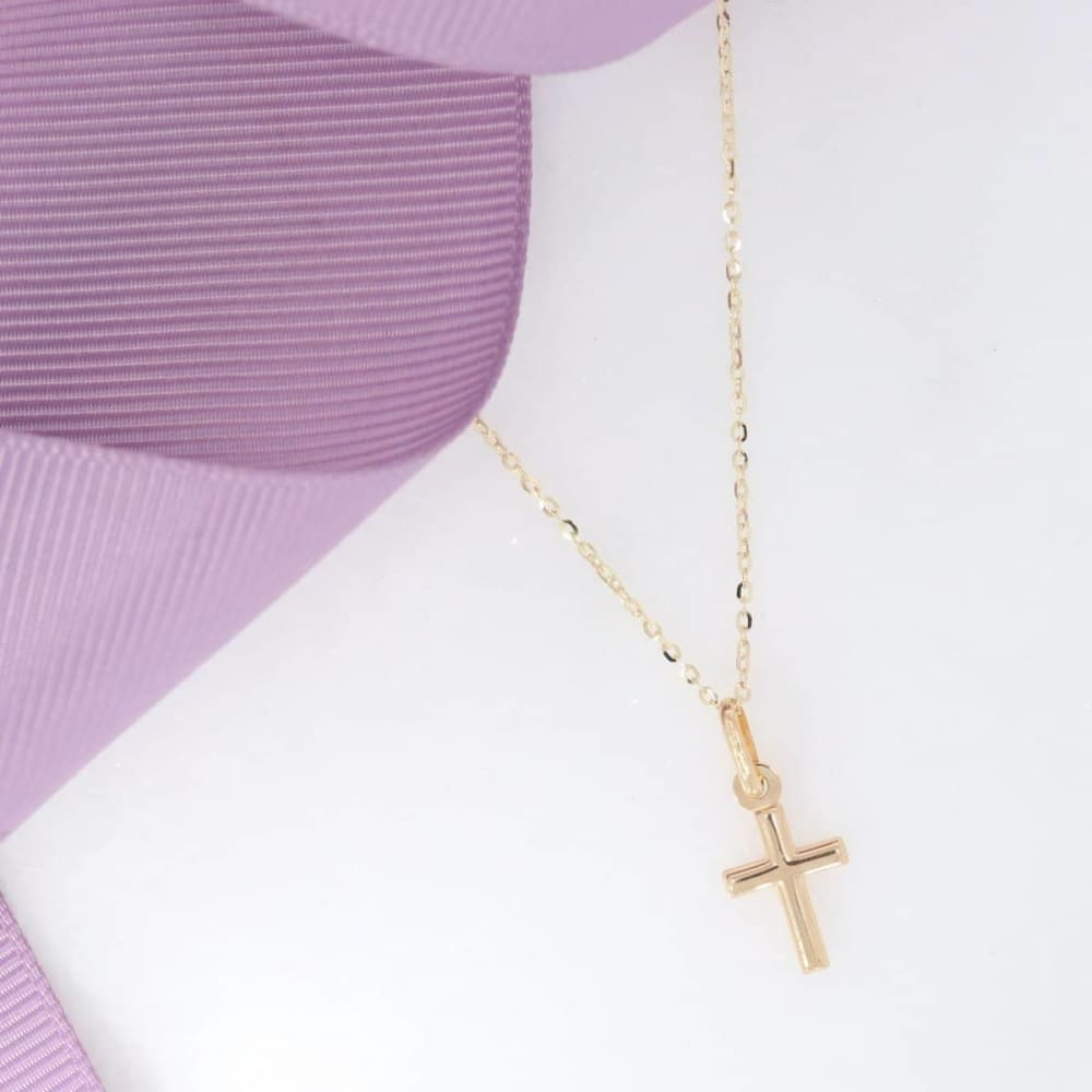 Tiny Cross Pendant | 9ct Gold - Gear Jewellers Parnell Street Dublin