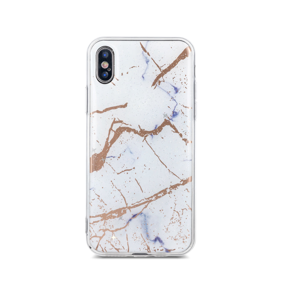 coque iphone xs silicone marbre