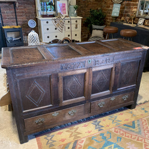 Antique 17th Century Chest - South Planks, Barton, Reclaimed Wood, Home Interiors, Cafe