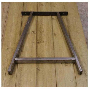 Table End Frame A Frame Tubular - South Planks, Barton, Reclaimed Wood, Home Interiors, Cafe