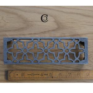 Air Brick/Trivet Met Size Cast Antique Iron 65x215 - South Planks, Barton, Reclaimed Wood, Home Interiors, Cafe