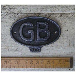 Plaque GREAT BRITAIN GB - South Planks, Barton, Reclaimed Wood, Home Interiors, Cafe