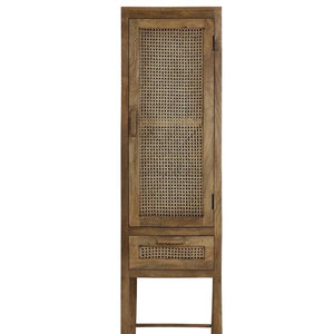 Tall Rattan Wooden Frame Cabinet - South Planks, Barton, Reclaimed Wood, Home Interiors, Cafe