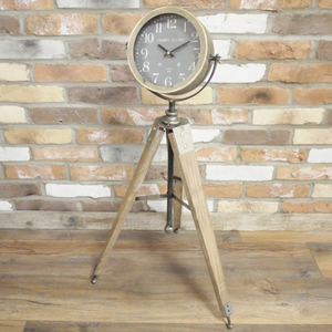 Clock on Tripod - South Planks, Barton, Reclaimed Wood, Home Interiors, Cafe