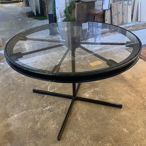 Old Mill Wheel Table - Black - South Planks, Barton, Reclaimed Wood, Home Interiors, Cafe