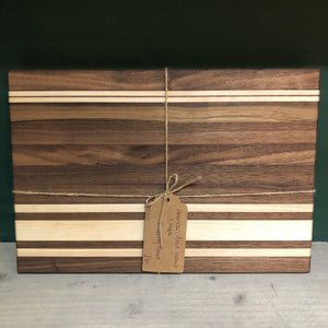 American Black Walnut & Maple Chopping Board
