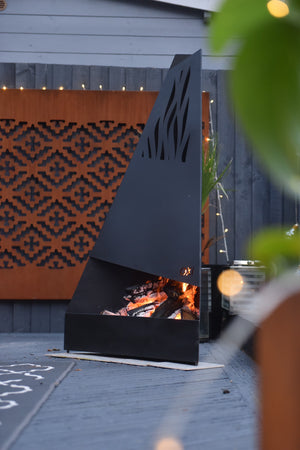 Flame Chiminea Black Edition