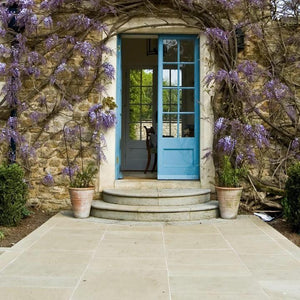Bronte Cathedral Yorkstone Paving (R x R x 40-50mm) - South Planks, Barton, Reclaimed Wood, Home Interiors, Cafe