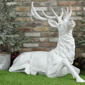 Laying Stag (White) - South Planks, Barton, Reclaimed Wood, Home Interiors, Cafe