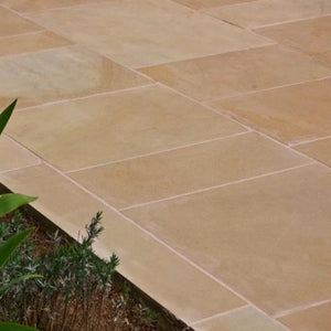 Abbeystead Cathedral Yorkstone Paving (600mm x R/L) - South Planks, Barton, Reclaimed Wood, Home Interiors, Cafe
