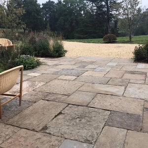 Reclaimed Yorkstone Paving (40-80mm R R) - South Planks, Barton, Reclaimed Wood, Home Interiors, Cafe