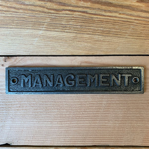 Management Plaque-South Planks