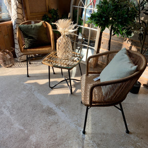 Rattan Table & Two Chairs-South Planks