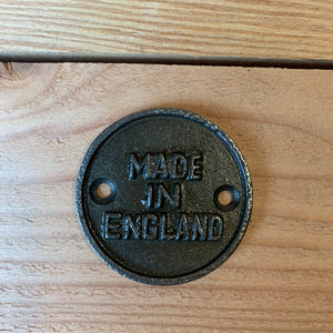 Made in England plaque-South Planks