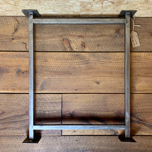 Table Underframe SCHOOL 25mm box steel 710mm x 620 - South Planks, Barton, Reclaimed Wood, Home Interiors, Cafe