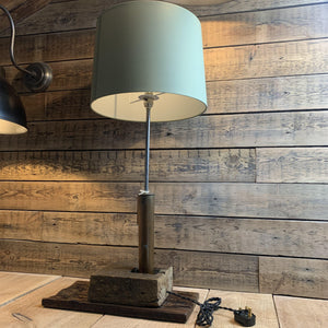 Artillery Shell Lamp - South Planks, Barton, Reclaimed Wood, Home Interiors, Cafe