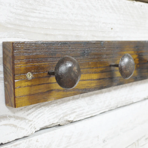 Industrial Vintage Coat Hook - South Planks, Barton, Reclaimed Wood, Home Interiors, Cafe