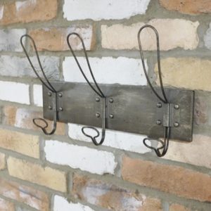 Industrial Wire Coat Hooks - South Planks, Barton, Reclaimed Wood, Home Interiors, Cafe