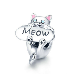 Meowing Kitty Charm