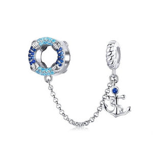 Anchor Safety Chain Charm