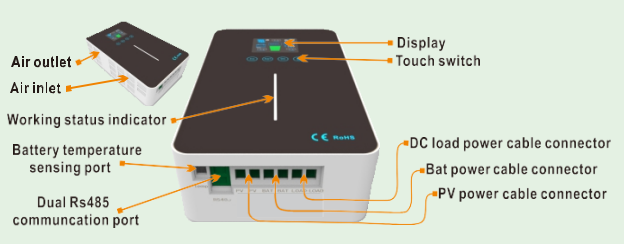 Temank , Solar Charge Controller, RUNNER 60A