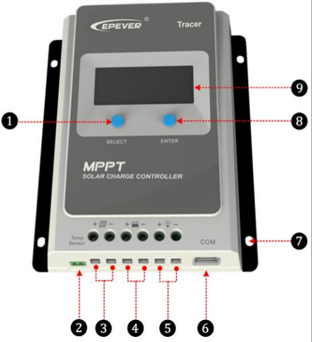 Temank solar Charge Controller, tracer 4210AN series