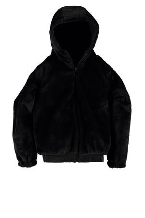 SUPERREBEL LADY'S HOODED SOFTSHELL JACKET BLACK