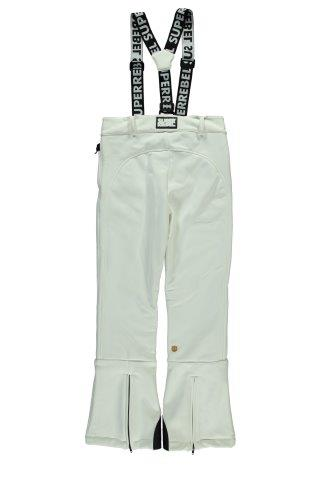 SUPERREBEL SKI TROUSERS SOFT SHELL WHITE