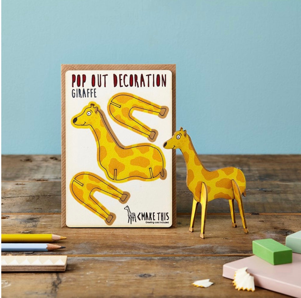 Giraffe Pop Out Card
