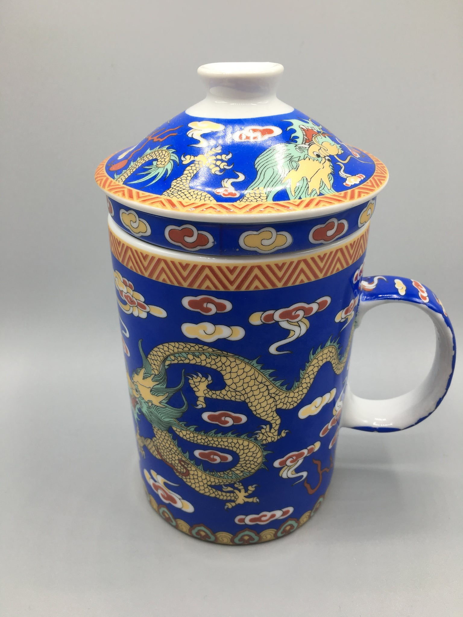 Blue Dragon Chinese Infuser Cup
