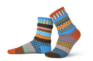 Amber Sky Crew Socks by Solmate Socks