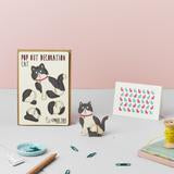 Black & White Cat Pop Out Card