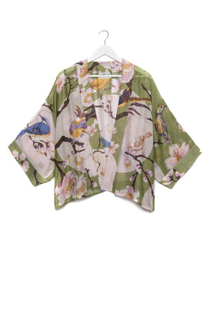One Hundred Stars Blossom and Birds Kimono
