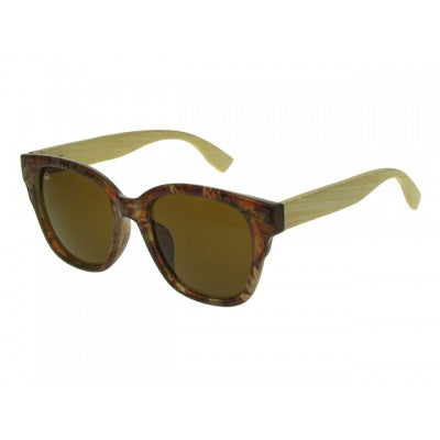 Carmen Brown Multi -  Unisex Bamboo Sunglasses