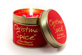 Christmas Spice Lily Flame Tinned Fragrance Christmas Candle