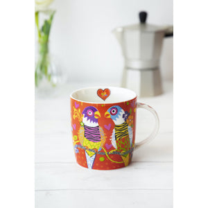 Love Hearts Cup Cakes Tiger Tiger Parrot Mug