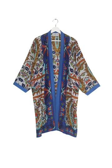 Decadent Blue Collar Kimono from One Hundred Stars