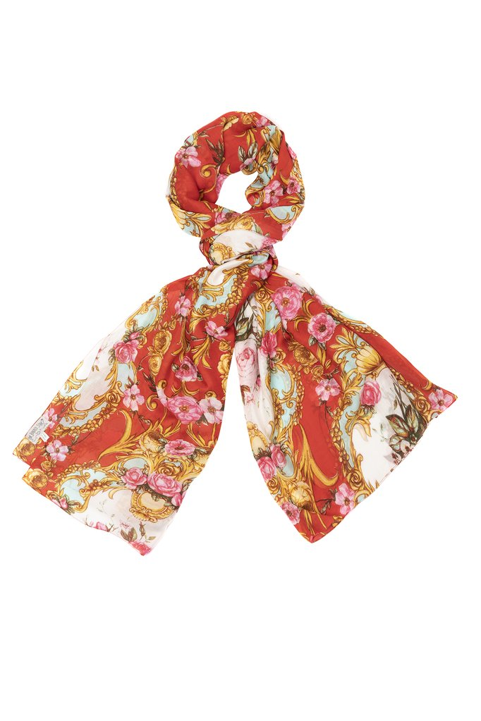 One Hundred Stars Emporio Red Scarf